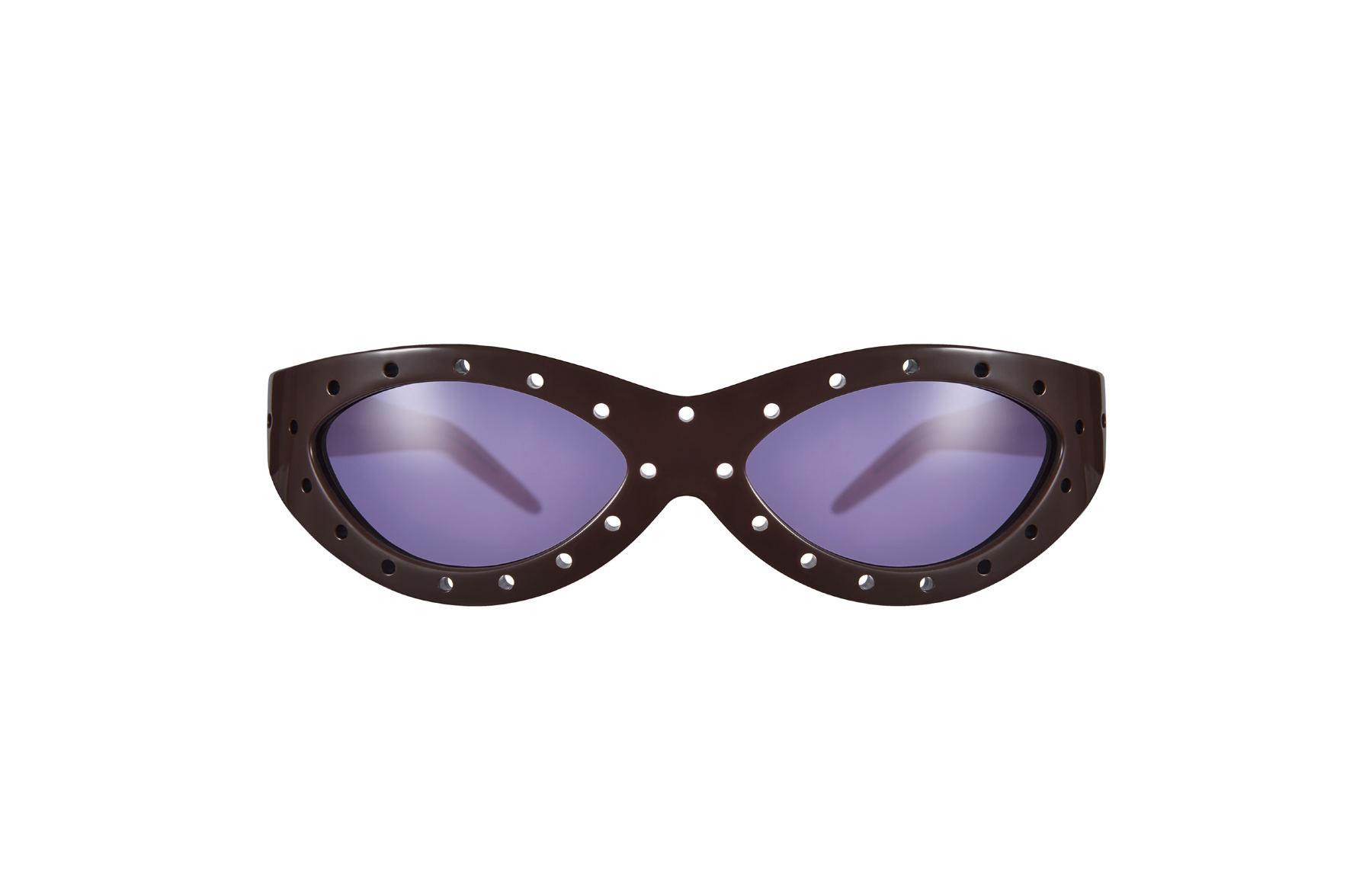 FAKBYFAK x Walter Van Beirendonck  Toy Glasses Model 1. Dark brown with coloured pins Code: 09/01/02