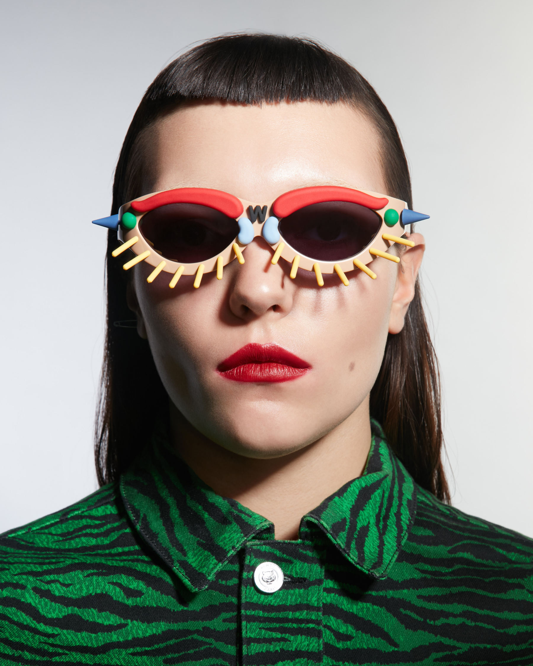 FAKBYFAK x Walter Van Beirendonck  Toy Glasses Model 1. Light brown with coloured pins Code: 09/01/03