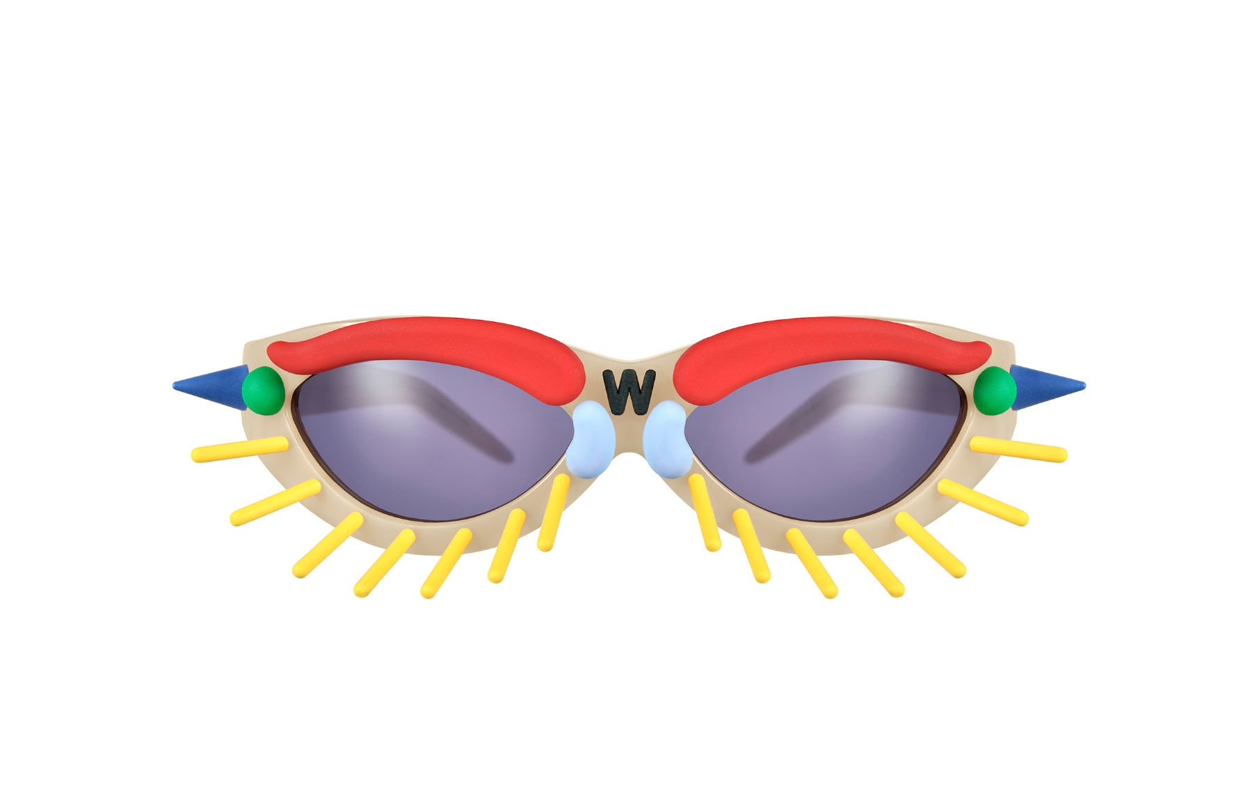 FAKBYFAK x Walter Van Beirendonck  Toy Glasses Model 1. Skin tone with coloured pins Code: 09/01/04