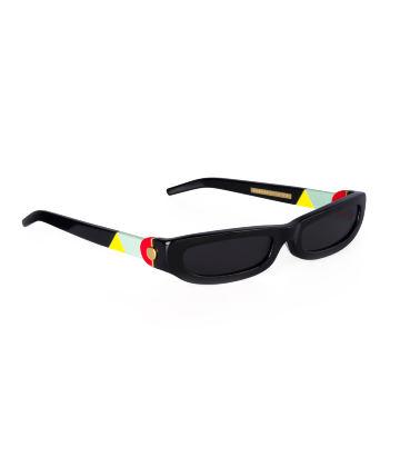 SHARP. Sunglasses. Classic Glossy Black