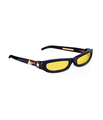 SHARP. Sunglasses. Classic Glossy Black & Gold
