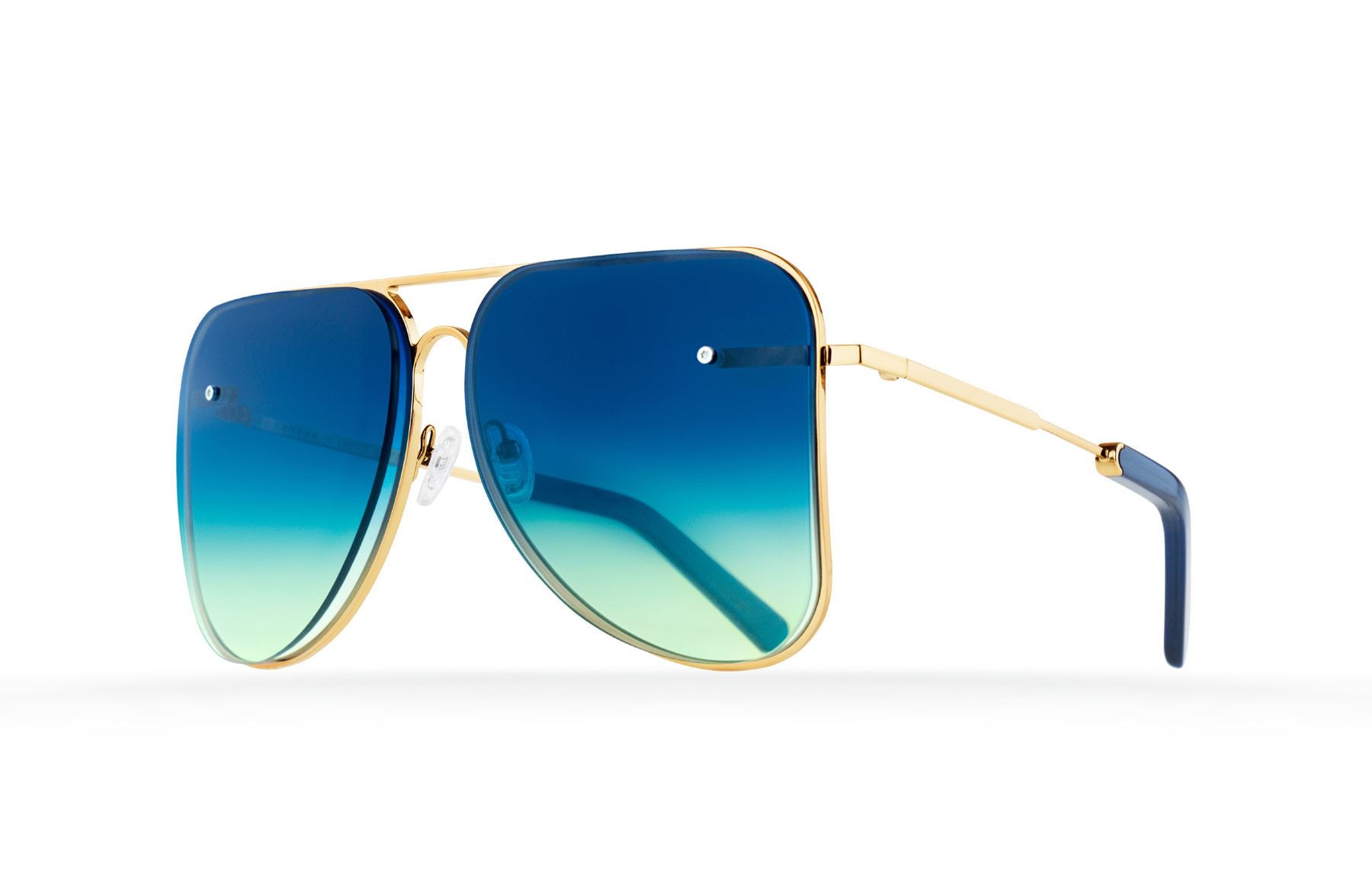 FAKBYFAK  Blue aviator Model 1. Golden metal frame Code: 07/01/012