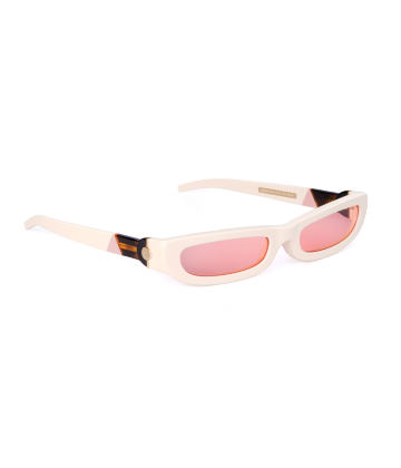 SHARP. Sunglasses. Glossy Ivory & Pink