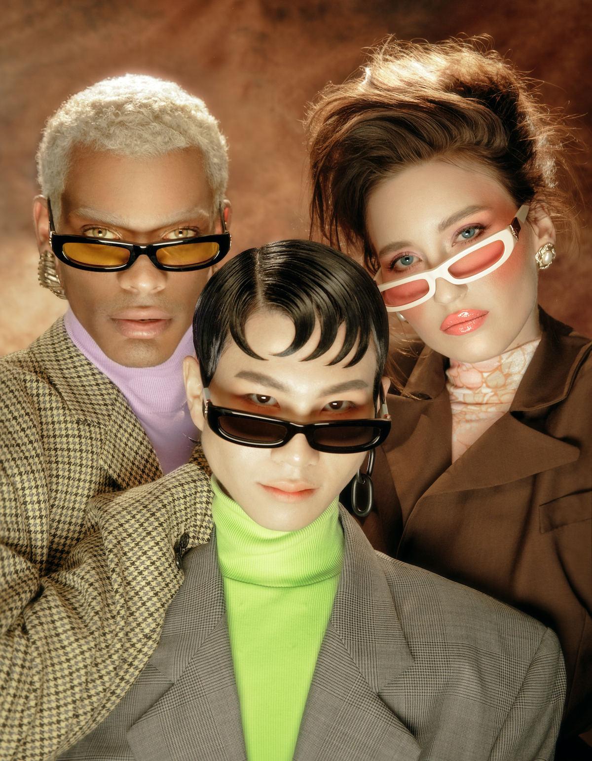 FAKBYFAK x Pilar Zeta  SHARP. Sunglasses. Glossy Ivory & Pink Code: FBF-14-01-03