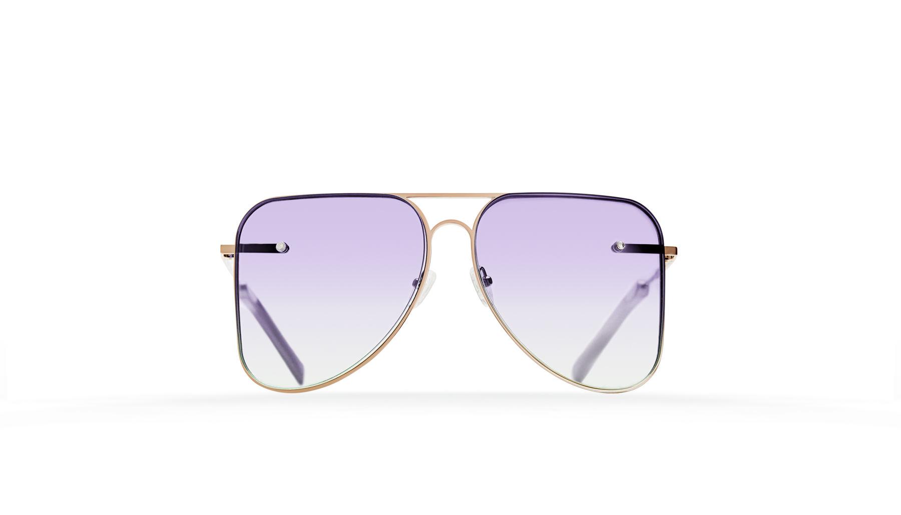 FAKBYFAK  Lilac gradient aviator Model 1. Golden metal frame Code: FBF-07-01-042