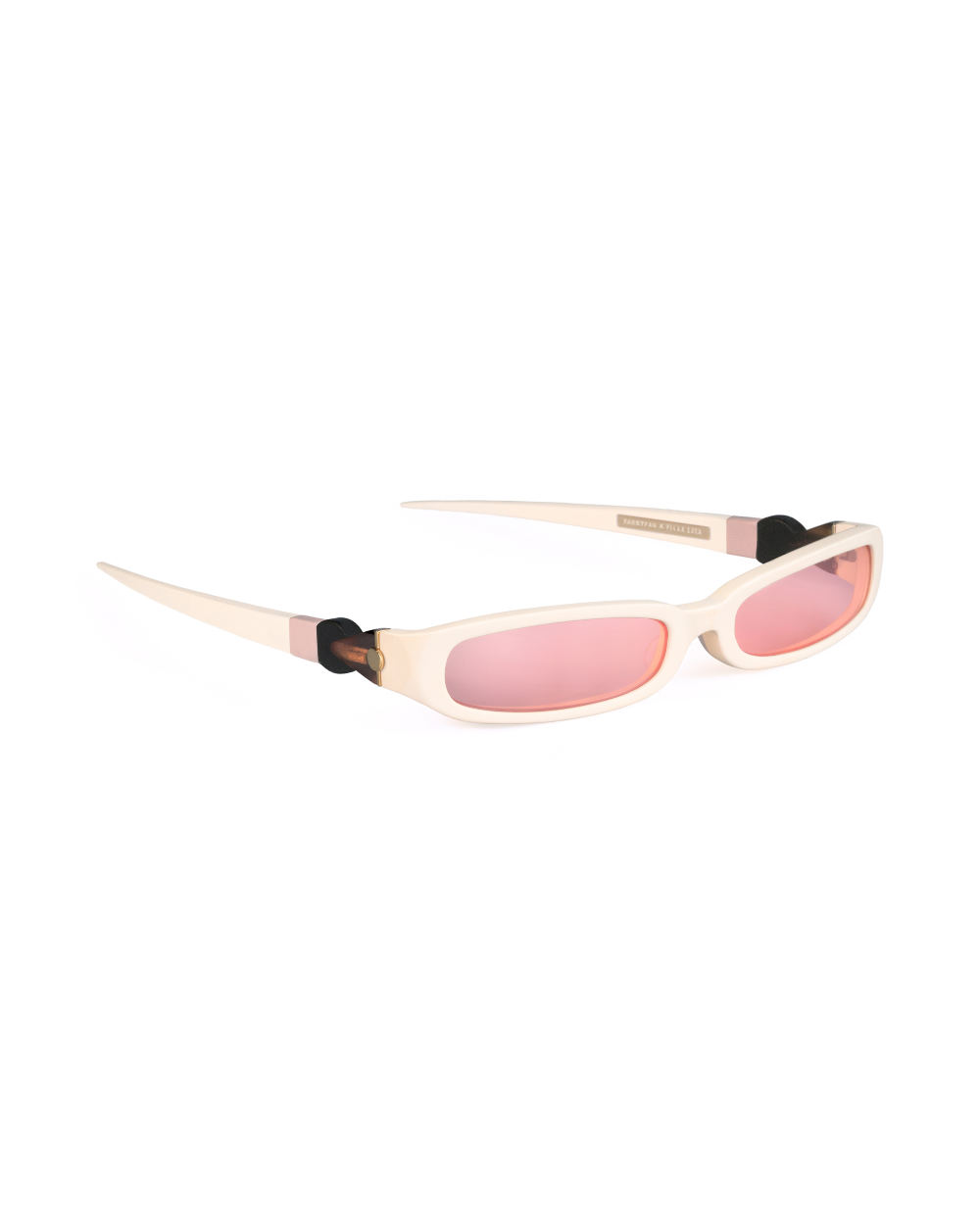 GRACE. Sunglasses. Glossy Ivory & Pink