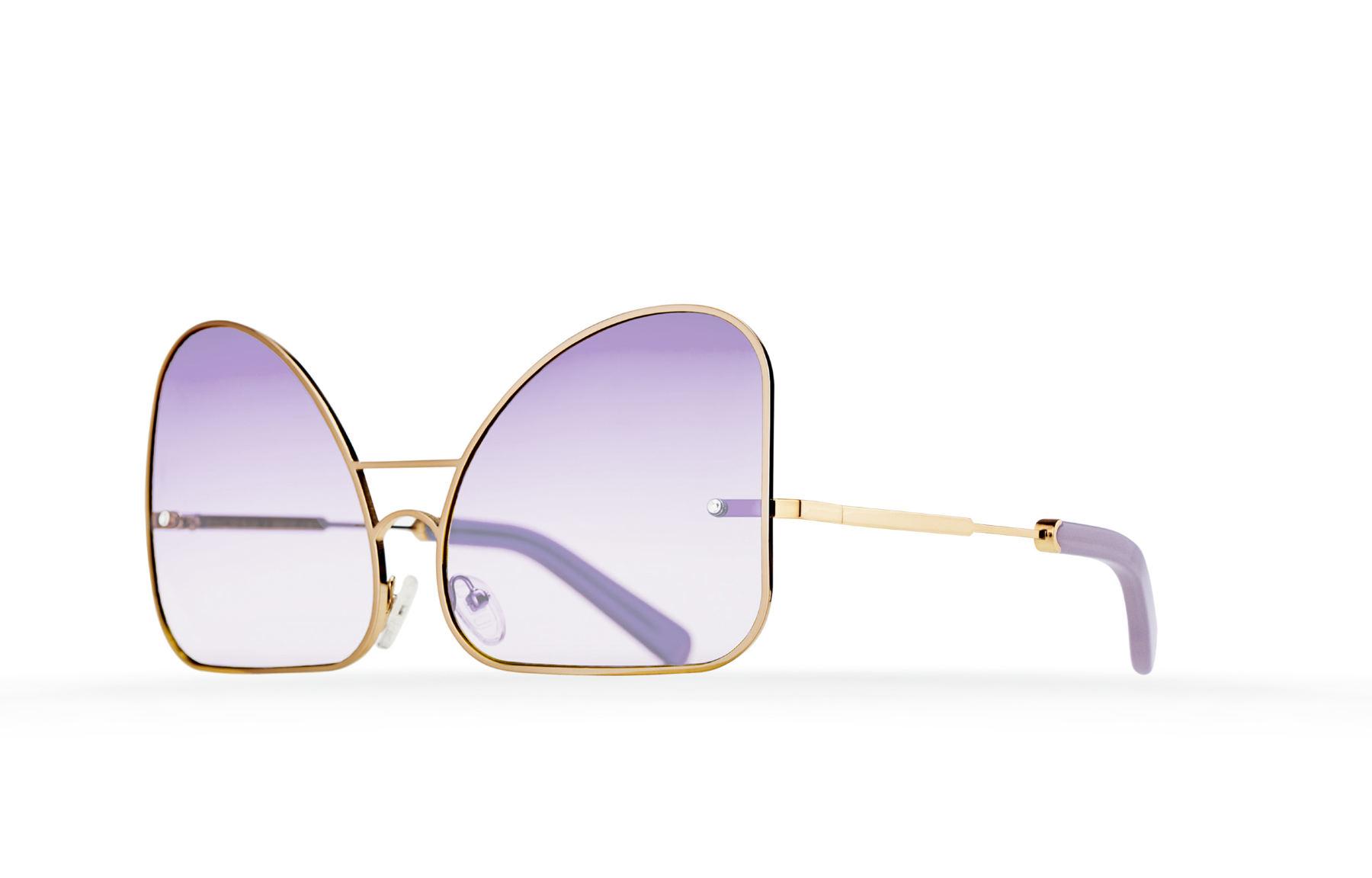 FAKBYFAK  Inverted lilac lenses aviator Model 2. Golden metal frame Code: FBF-07-02-04