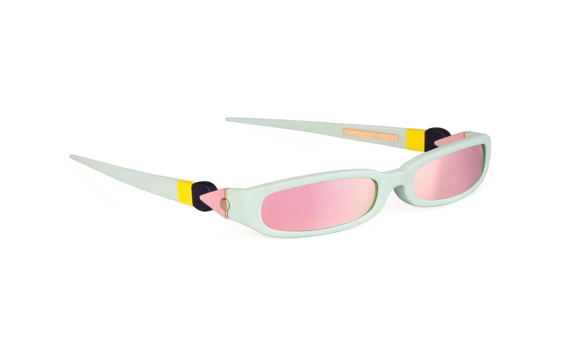 FAKBYFAK x Pilar Zeta  GRACE. Sunglasses. Matte Mint & Mirrored Pink Code: FBF-14-02-04