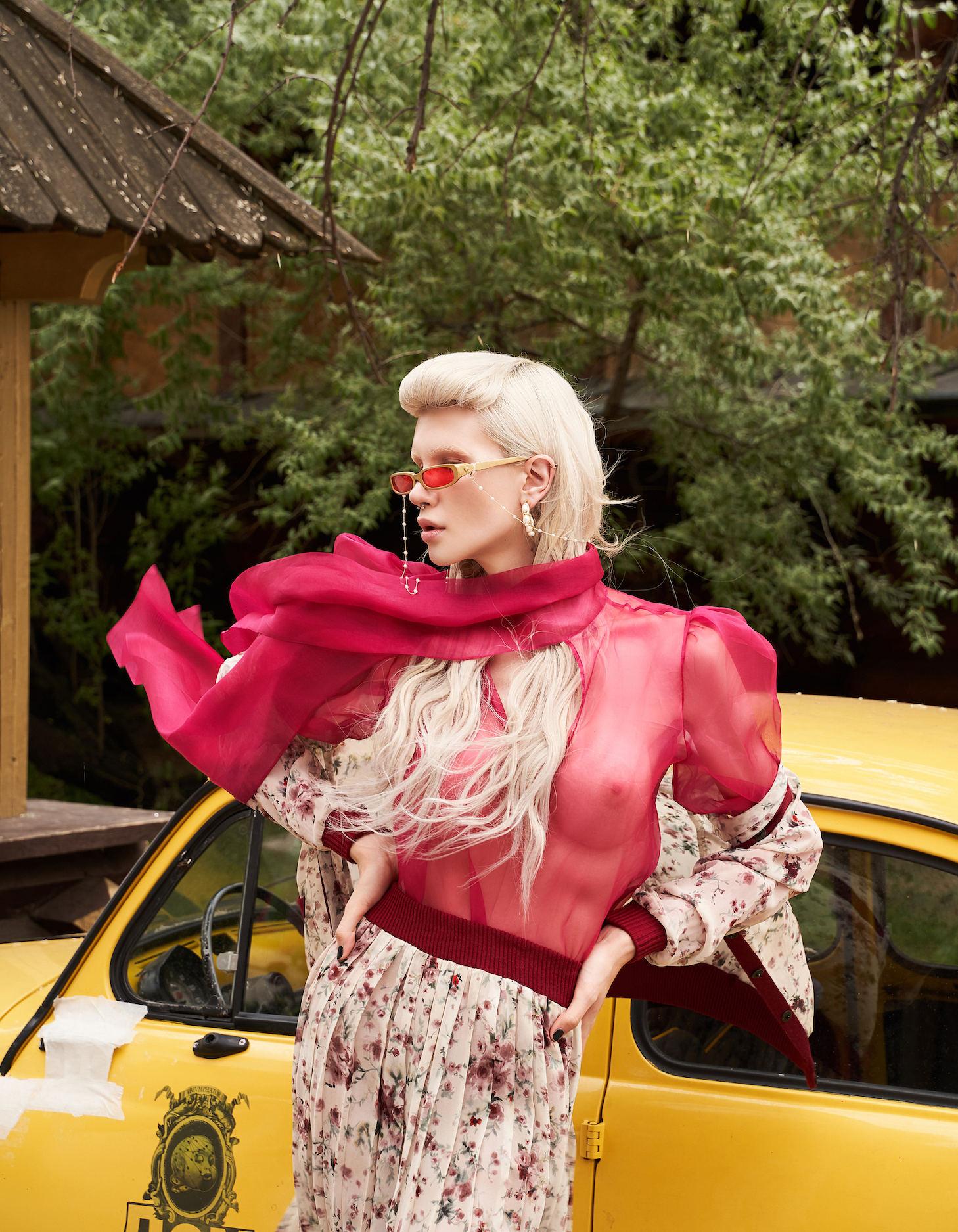 FAKBYFAK x Pilar Zeta  GRACE. Sunglasses. Glossy Red Code: 14/02/06