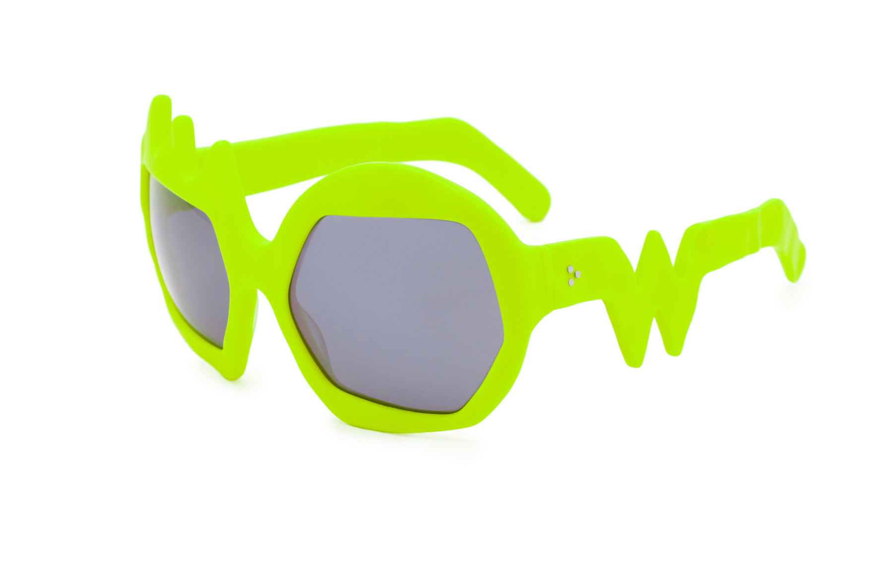 FAKBYFAK x Walter Van Beirendonck  Lightning Sunglasses. Neon Yellow Code: FBF-09-11-07