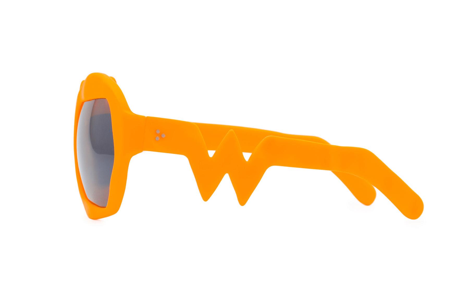 FAKBYFAK x Walter Van Beirendonck  Lightning Sunglasses. Neon Orange Code: 09/11/08