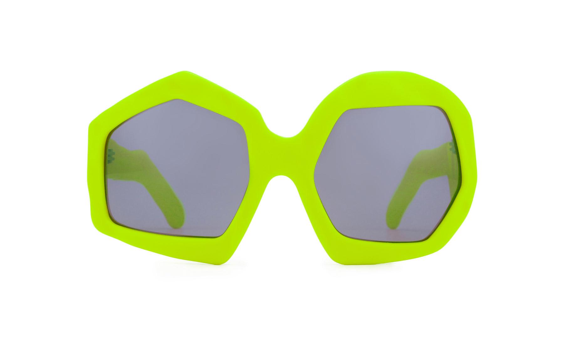 FAKBYFAK x Walter Van Beirendonck  Thunder Sunglasses. Neon Yellow Code: FBF-09-12-07