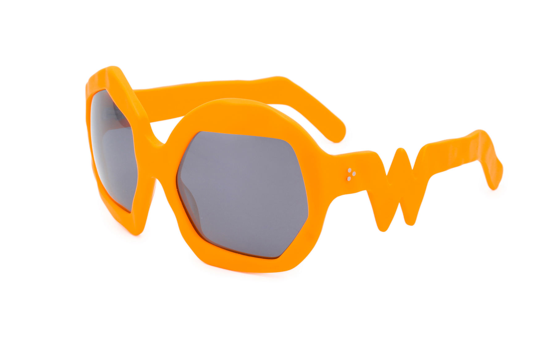 FAKBYFAK x Walter Van Beirendonck  Thunder Sunglasses. Neon Orange Code: FBF-09-12-08