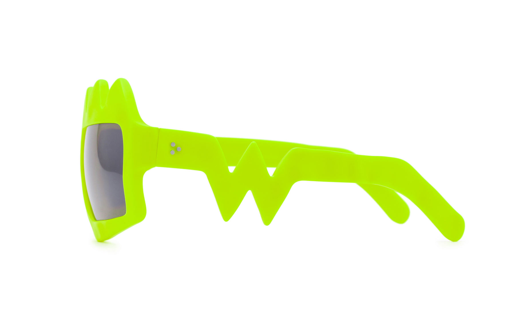 FAKBYFAK x Walter Van Beirendonck  Bliksem Sunglasses. Neon Yellow Code: FBF-09-13-07