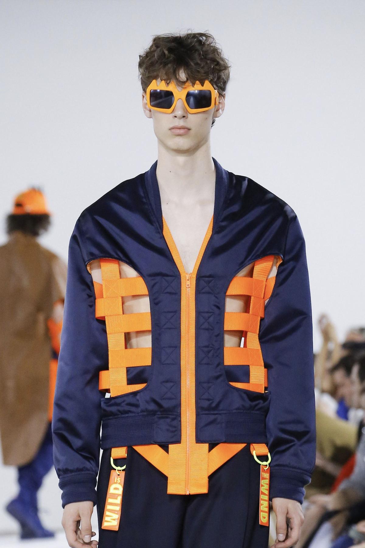 FAKBYFAK x Walter Van Beirendonck  Bliksem Sunglasses. Neon Orange Code: FBF-09-13-08