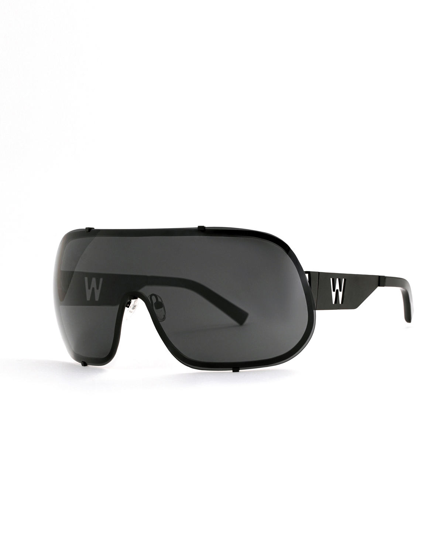 FAKBYFAK x Walter Van Beirendonck  BlitZ Solar Shield Sunglasses. Black Code: FBF-23-01-02