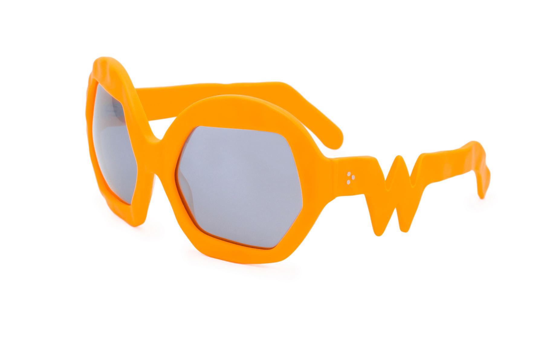 FAKBYFAK x Walter Van Beirendonck  Donder Sunglasses. Neon Orange Code: FBF-09-14-08