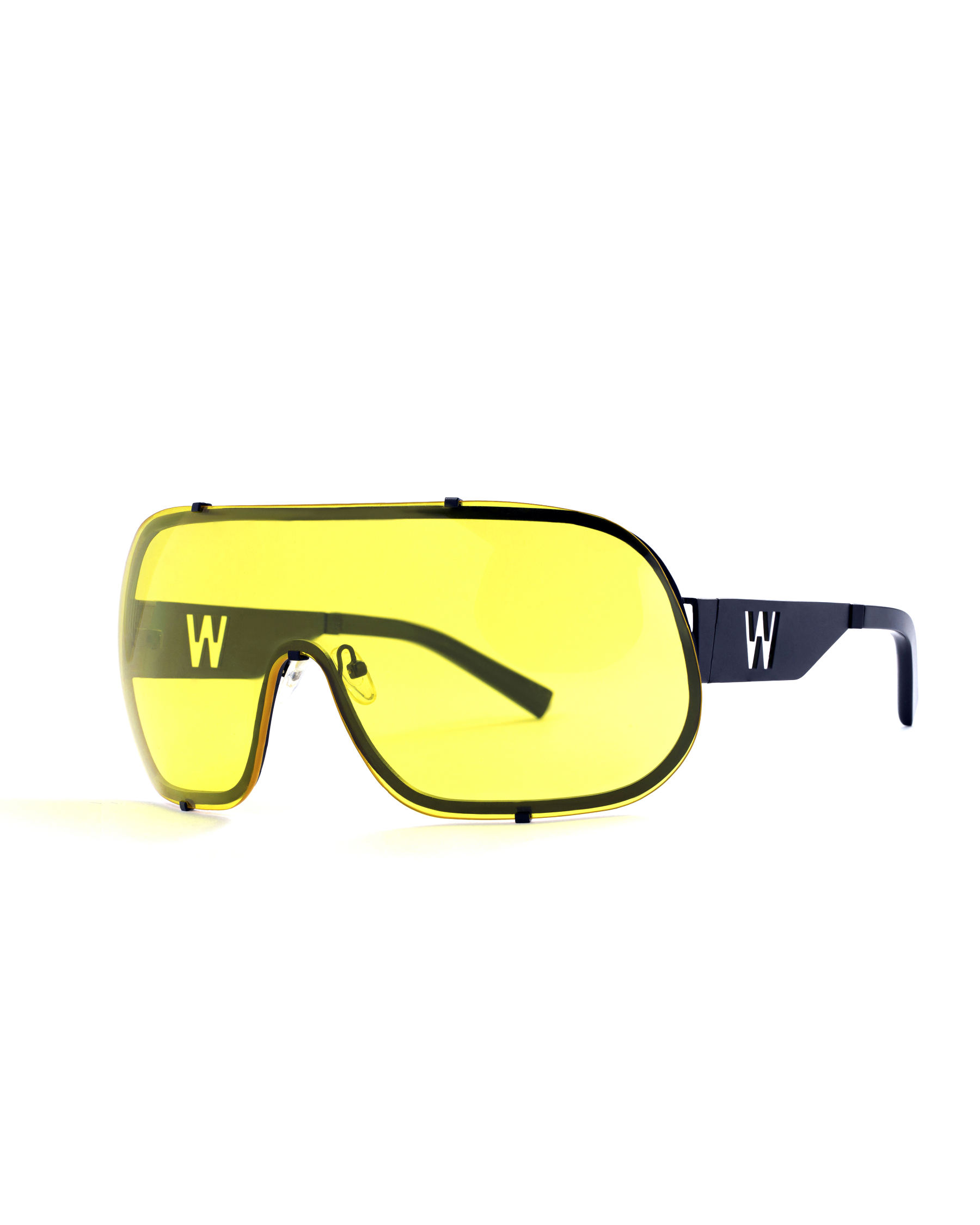 FAKBYFAK x Walter Van Beirendonck  BlitZ Solar Shield Sunglasses. Yellow Code: 23/01/01