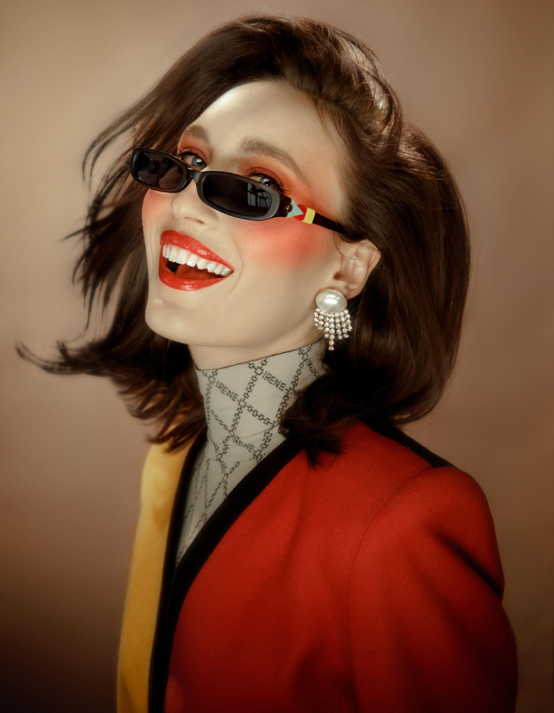 FAKBYFAK x Pilar Zeta  GRACE. Sunglasses. Classic Glossy Black Code: FBF-14-02-01