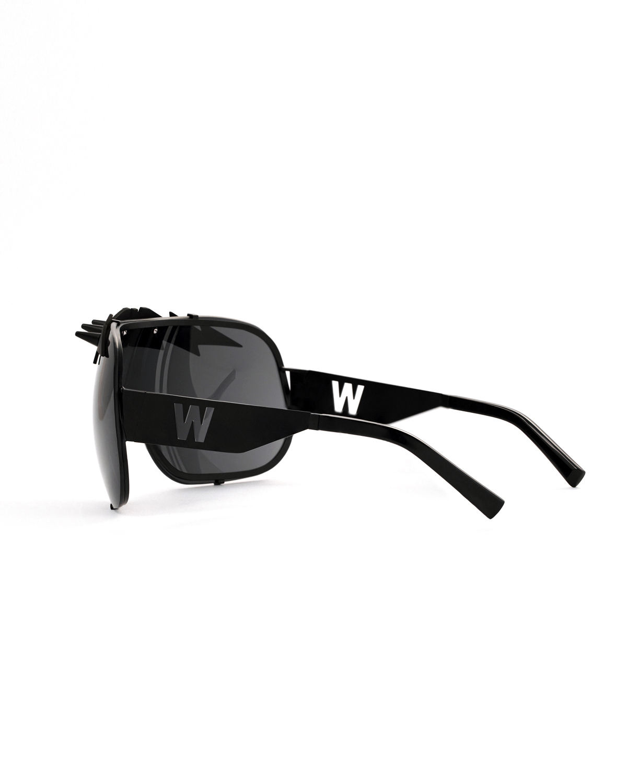 FAKBYFAK x Walter Van Beirendonck  BlitZ Solar Shield Sunglasses. Black & Black Lightning Code: FBF-23-01-04