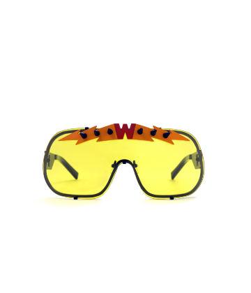 BlitZ Solar Shield Sunglasses. Yellow & Orange Lightning