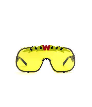 BlitZ Solar Shield Sunglasses. Yellow & Neon Lightning