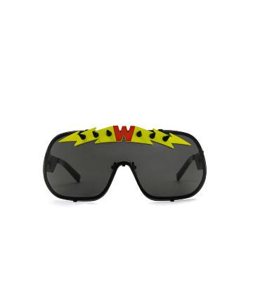 BlitZ Solar Shield Sunglasses. Black & Neon Lightning