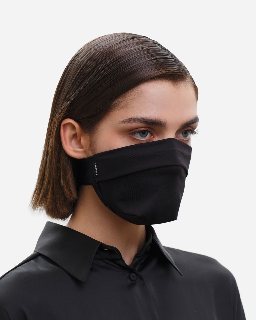 The Vega. Ear Strap-Free High-End Protective Antibacterial (ATB-UV+) Unisex Face Mask. Black