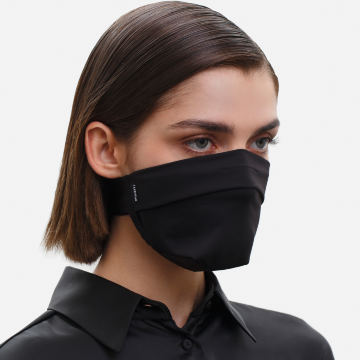 The Vega. Ear Strap-Free High-End Protective Antibacterial (ATB-UV+) Face Mask. Black