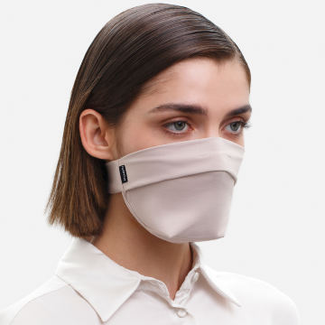 The Vega. Ear Strap-Free High-End Protective Antibacterial (ATB-UV+) Unisex Face Mask. Beige