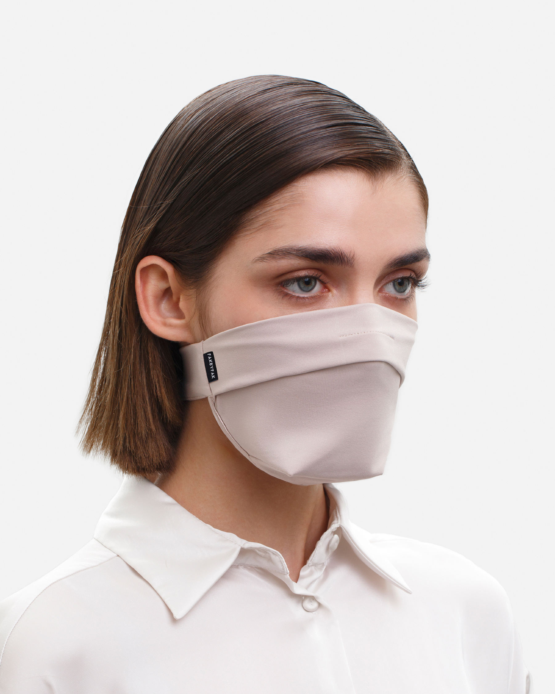 FAKBYFAK  The Vega. Ear Strap-Free High-End Protective Antibacterial (ATB-UV+) Face Mask. Beige Code: FBF-42101-02