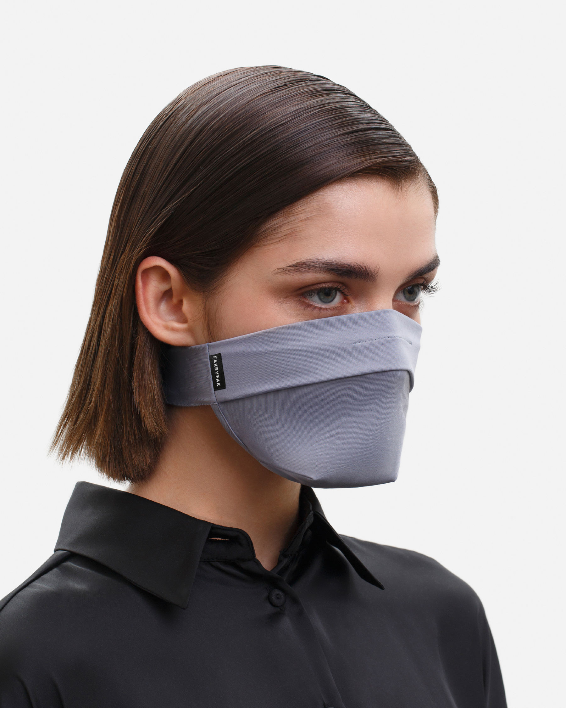 FAKBYFAK  The Vega. Ear Strap-Free High-End Protective Antibacterial (ATB-UV+) Face Mask. Grey Code: FBF-42101-03