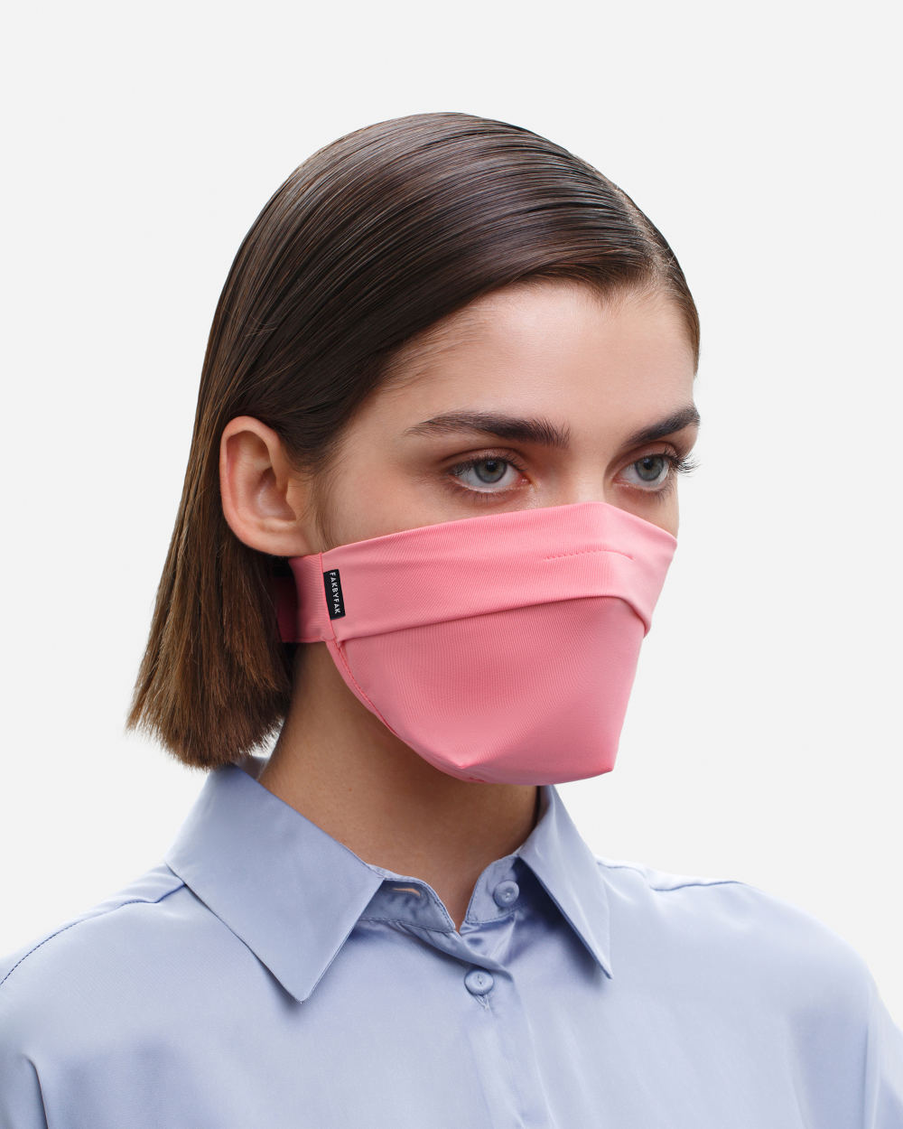 The Vega. Ear Strap-Free High-End Protective Antibacterial (ATB-UV+) Unisex Face Mask. Coral