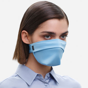 The Vega. Ear Strap-Free High-End Protective Antibacterial (ATB-UV+) Unisex Face Mask. Light Blue