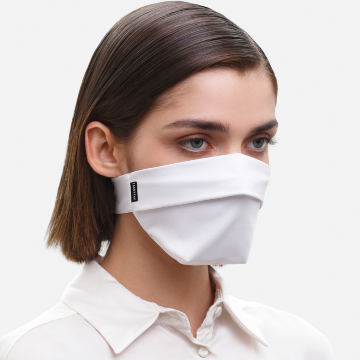 The Vega. Ear Strap-Free High-End Protective Antibacterial (ATB-UV+) Face Mask. White
