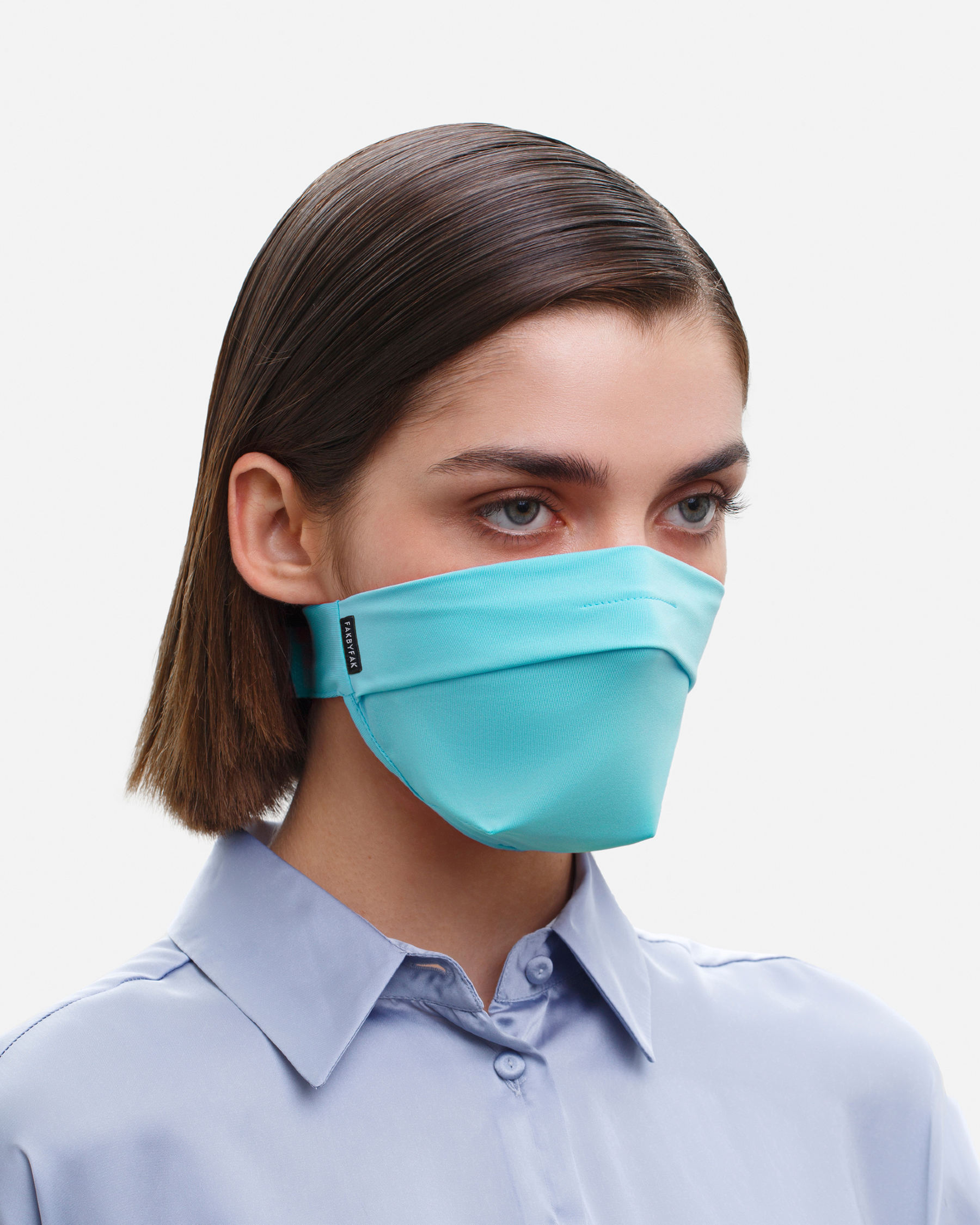 FAKBYFAK  The Vega. Ear Strap-Free High-End Protective Antibacterial (ATB-UV+) Face Mask. Mint Code: FBF-42101-07