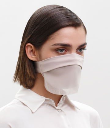 Fashion Face Covering with a Veil, Ear Strap-Free. The FAKOUT. Beige