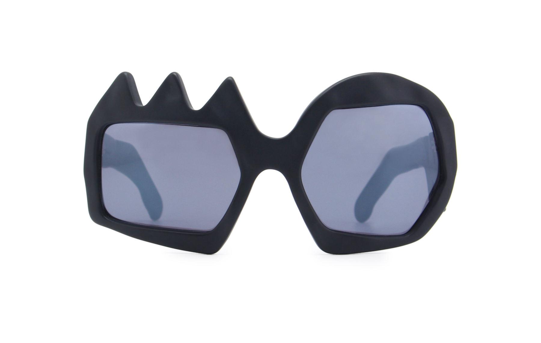 FAKBYFAK x Walter Van Beirendonck  Lightning Sunglasses. Black Code: 09/11/01