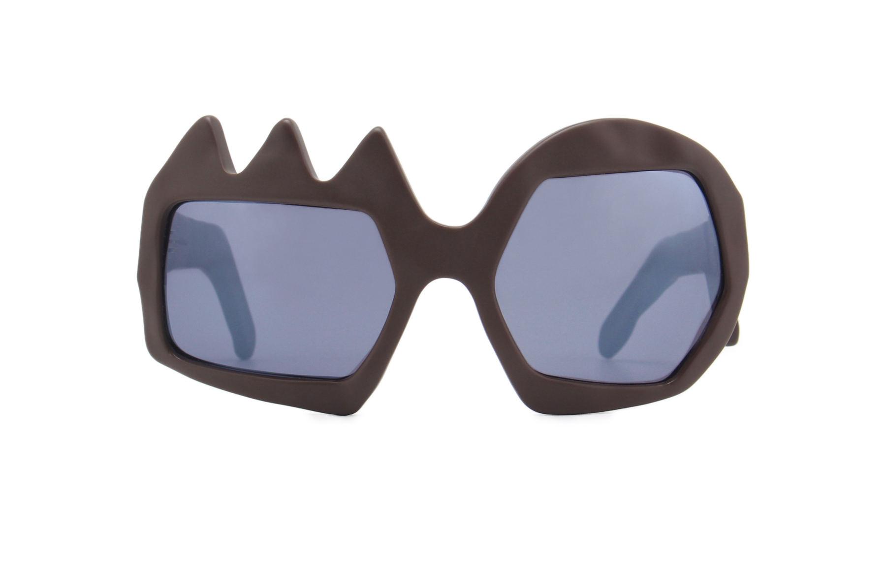 FAKBYFAK x Walter Van Beirendonck  Lightning Sunglasses. Brown Code: FBF-09-11-02