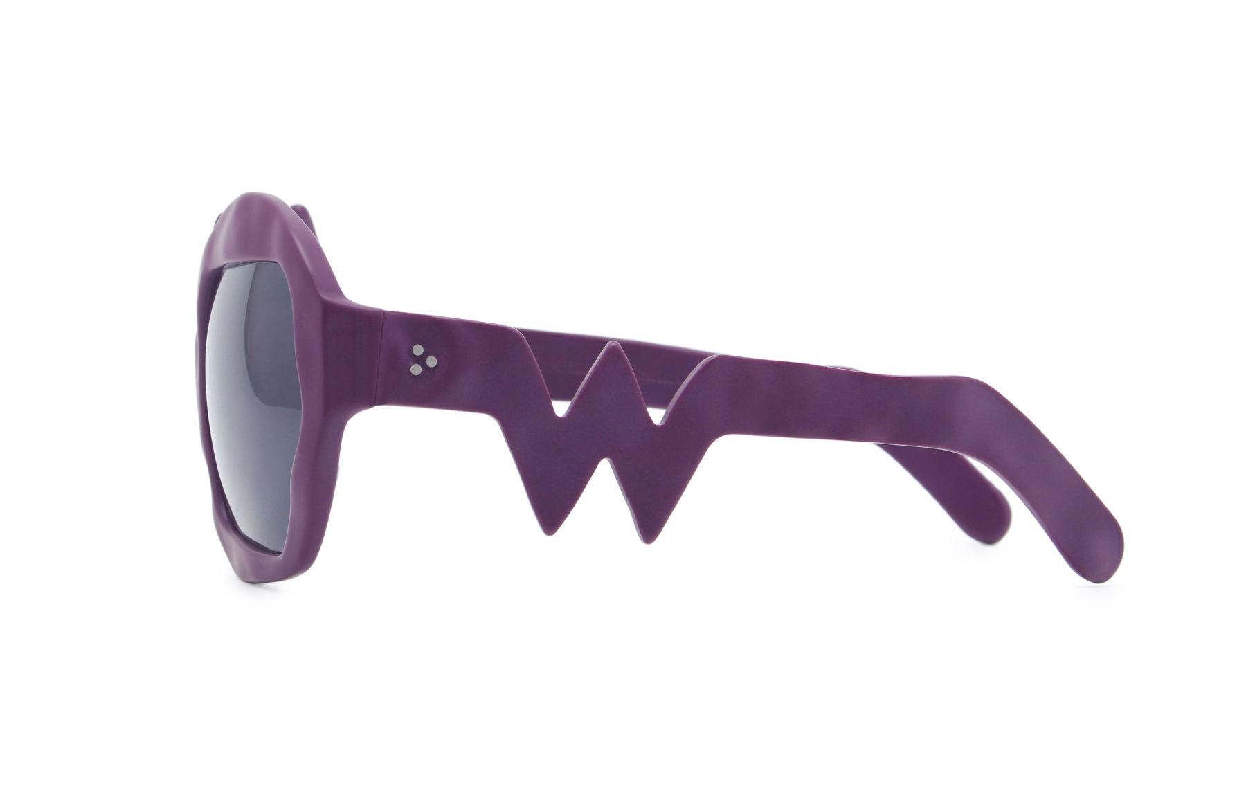 FAKBYFAK x Walter Van Beirendonck  Lightning Sunglasses. Purple Code: FBF-09-11-03