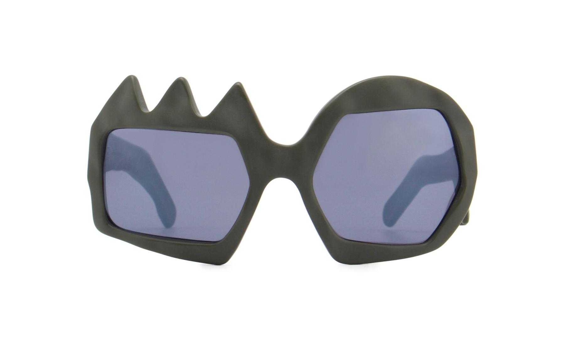 FAKBYFAK x Walter Van Beirendonck  Lightning Sunglasses. Military Green Code: FBF-09-11-04