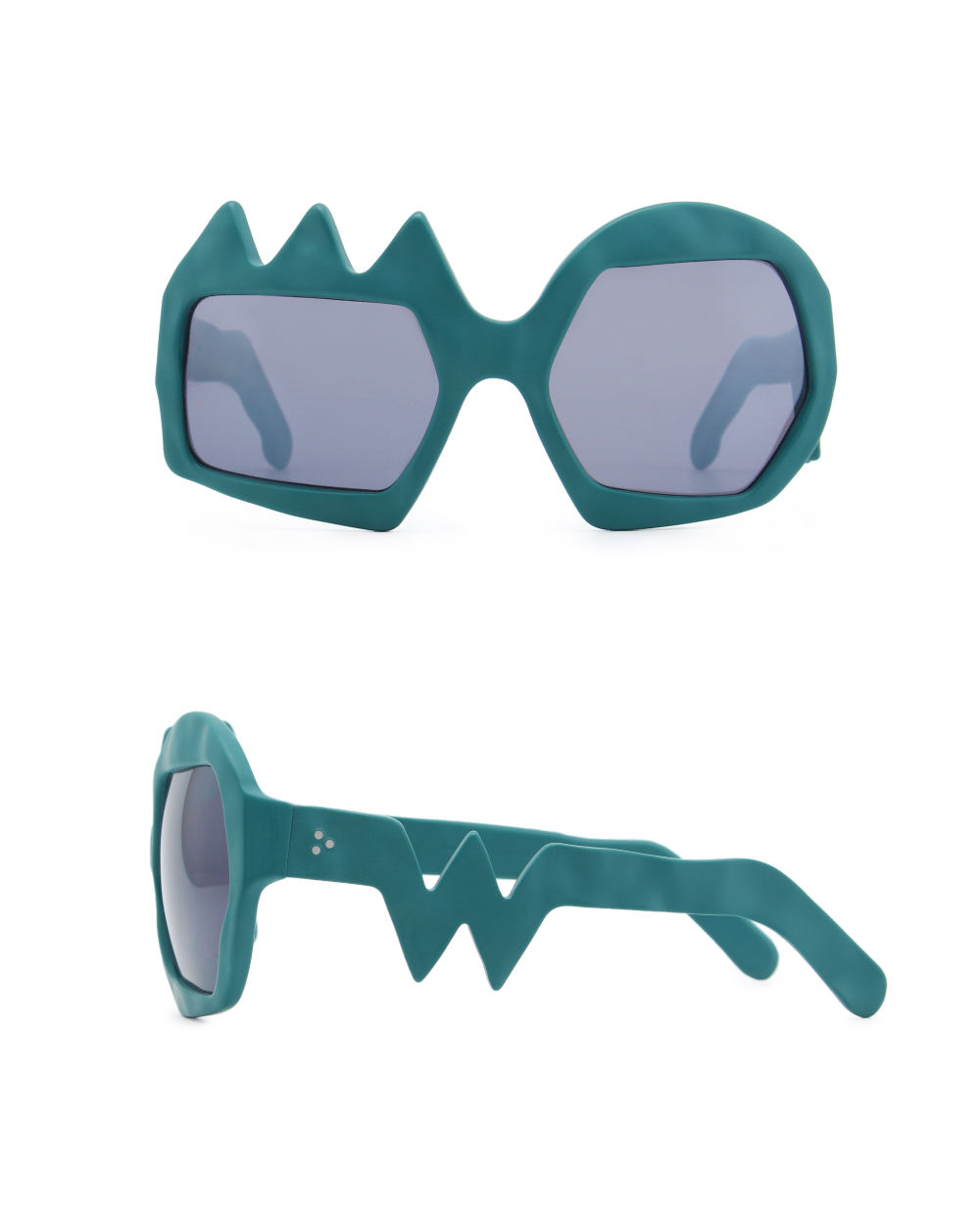 Lightning Sunglasses. Petrol Green