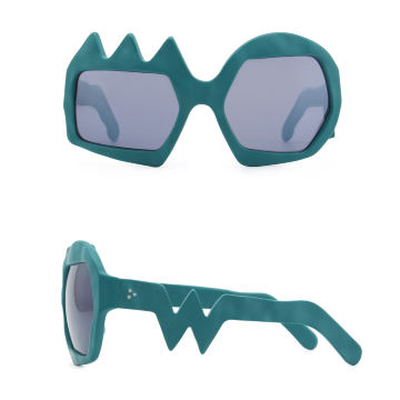 Lightning Sunglasses. Petrol Green