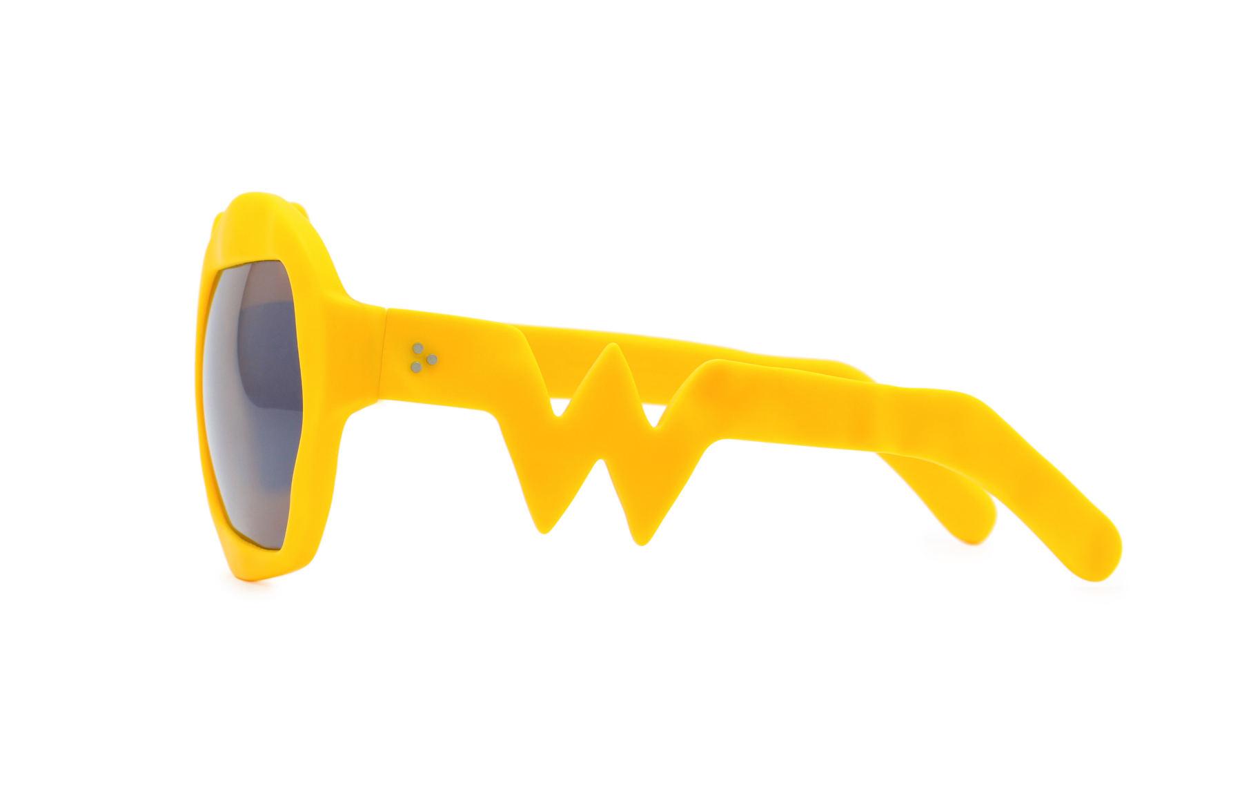 FAKBYFAK x Walter Van Beirendonck  Lightning Sunglasses. Zinnia Orange Code: FBF-09-11-06