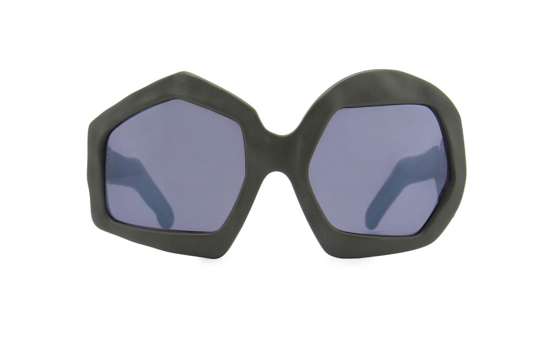 FAKBYFAK x Walter Van Beirendonck  Thunder Sunglasses. Military Green Code: FBF-09-12-04
