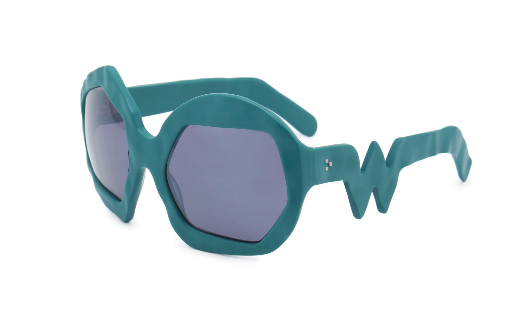 FAKBYFAK x Walter Van Beirendonck  Thunder Sunglasses. Petrol Green Code: FBF-09-12-05