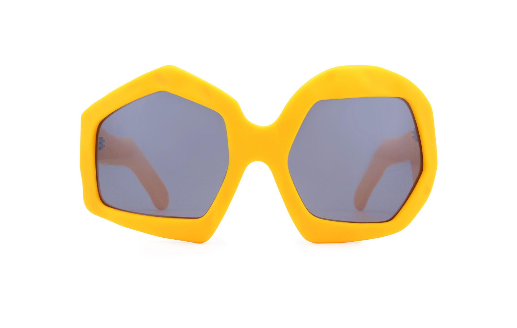 FAKBYFAK x Walter Van Beirendonck  Thunder Sunglasses. Zinnia Orange Code: FBF-09-12-06