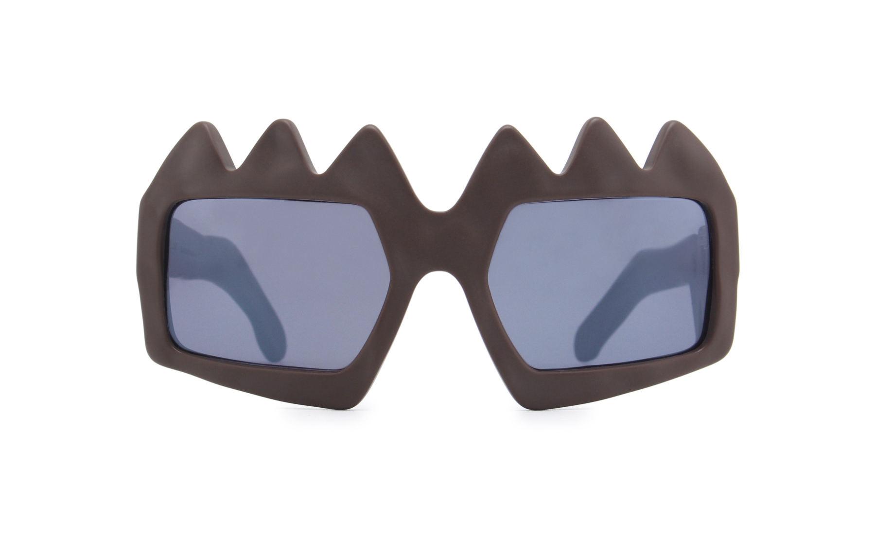FAKBYFAK x Walter Van Beirendonck  Bliksem Sunglasses. Brown Code: FBF-09-13-02
