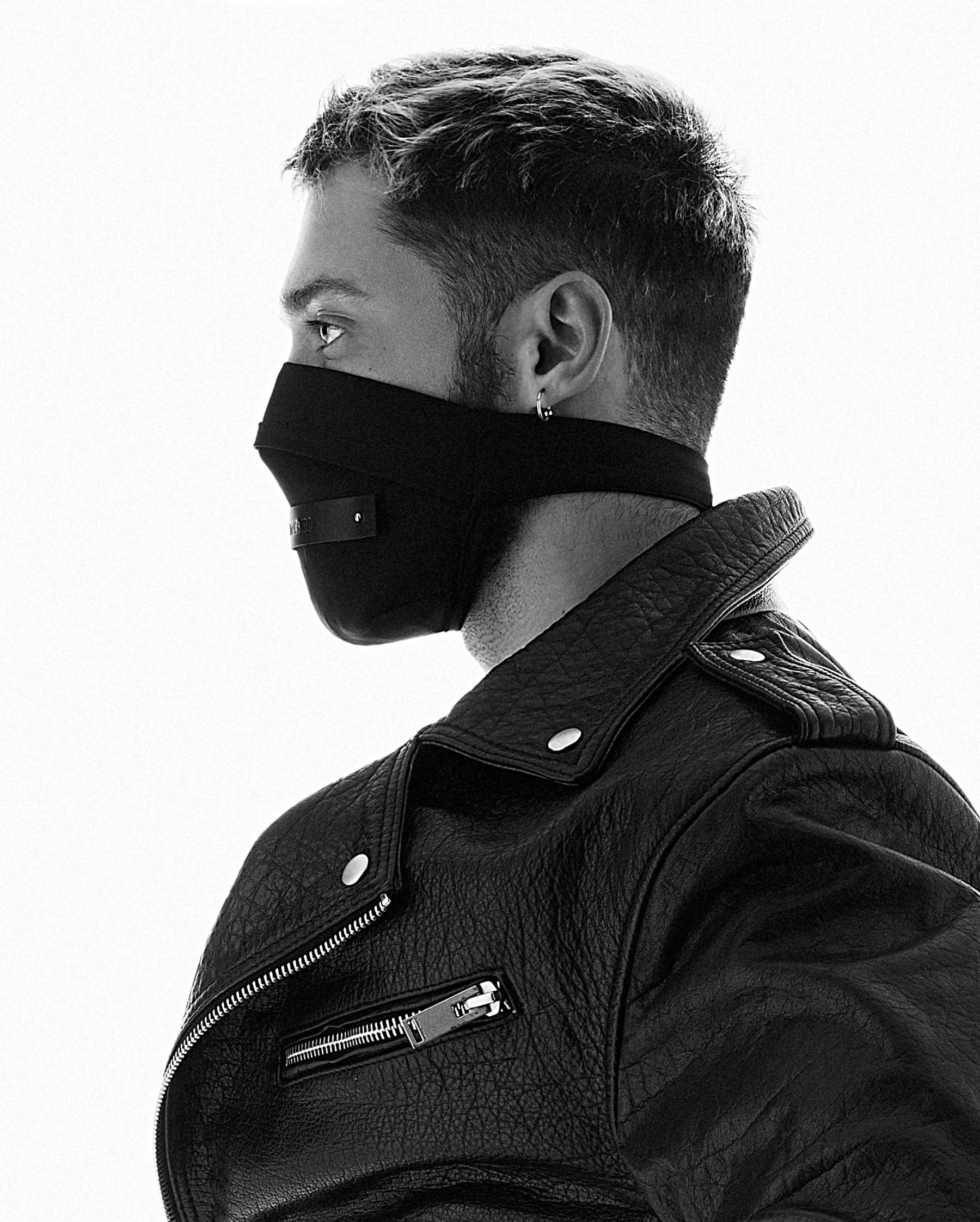 TOM OF FINLAND x FAKBYFAK  Fine Face Covering Mask & Gloves. Exclusive Centennial Edition Kit. Black Code: FBF-41103-01