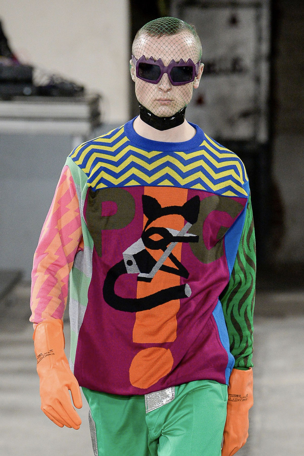 FAKBYFAK x Walter Van Beirendonck  Bliksem Sunglasses. Purple Code: 09/13/03